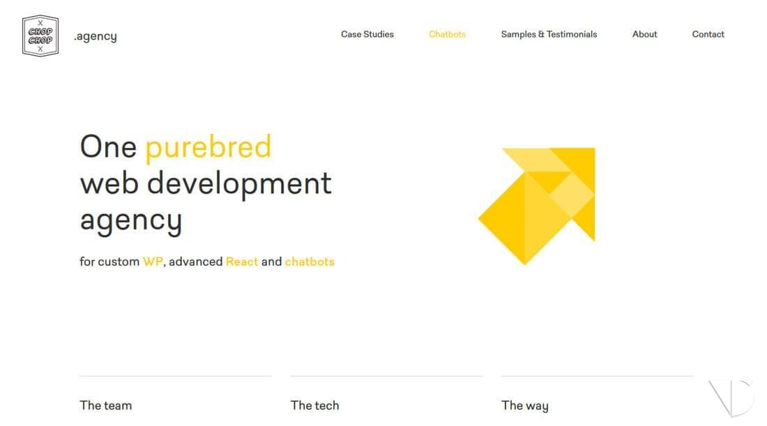 Poly Shapes – Web với thiết kế hình đa giác lên ngôi