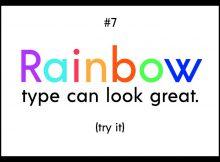 7 điều cần biết về ghép nối màu và kiểu chữ